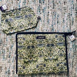 NWT LIBERTY of LONDON Cosmetic Bag Set